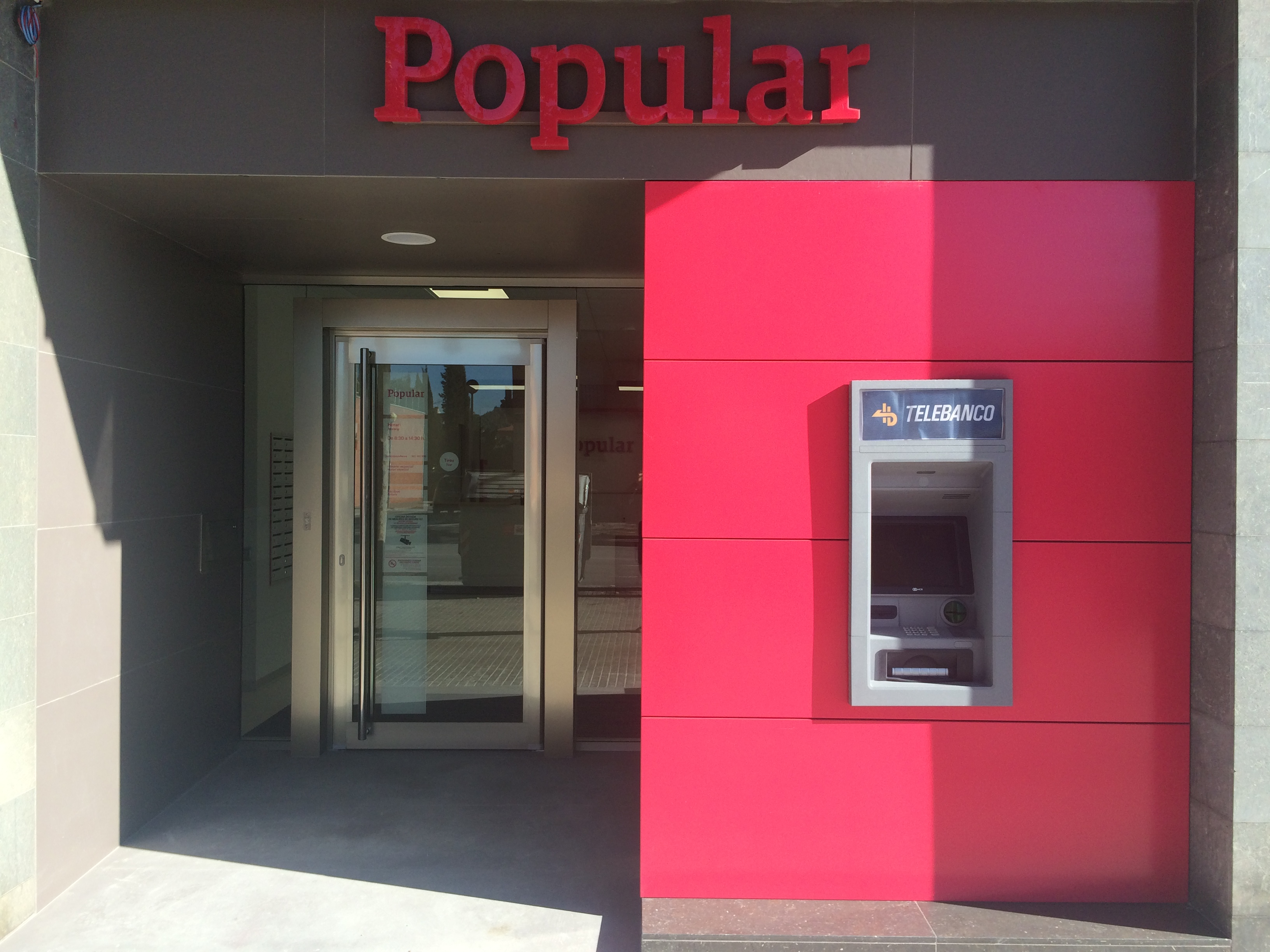 Blog dosaplicacions for Oficinas banco popular madrid